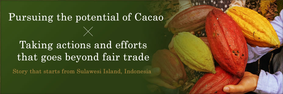 Pursuing the potential of Cacao/ Taking actions and efforts that goes beyond fair trade